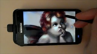 Drawing Putto with the Samsung Galaxy  - Time Lapse Video -  Art with Mobile Phone