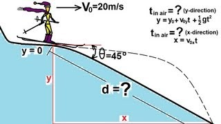 Physics - Mechanics: Motion In Two-dimensions:  13 Of 21  Example 2: Landing On A Slope