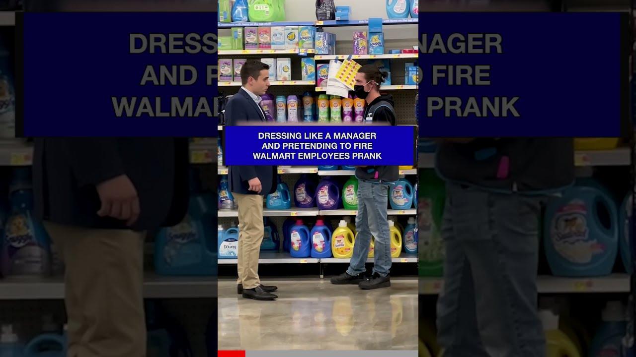 Pretending to Fire Walmart Emplyees #shorts