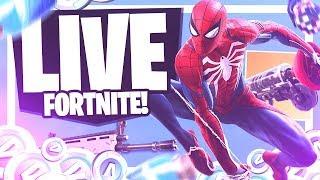 LIVESTREAM #219-SPIDER-MAN SKIN AT FORTNITE! * IT'S NOT CLICKBAIT *