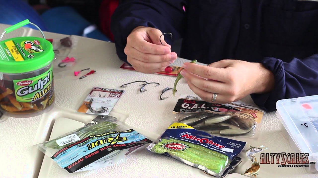 how to rig soft plastic fishing baits - youtube, Soft Baits