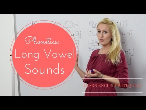 Long Vowel Sounds: Phonetics / Pronunciation class with Learn English with Julia