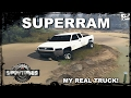 SpinTires DODGE RAM RUNNING OVER TREES MY REAL TRUCK SUPERRAM