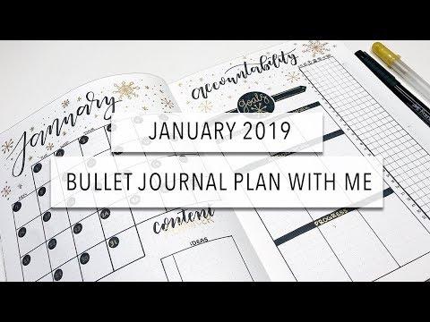 January 2019 ❄️ Plan With Me 📖 Bullet Journal Setup