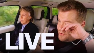 james corden in tears singing with paul mccartney et canada live