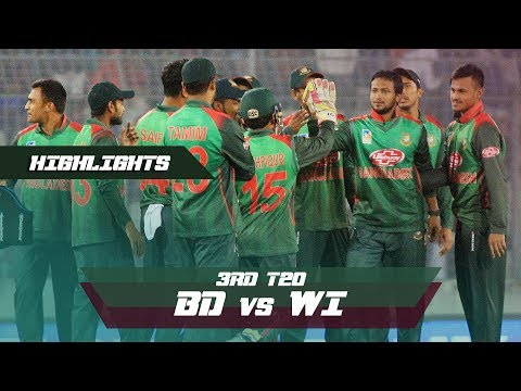 Bangladesh vs Windies Highlights || 3rd T20 || Windies tour of Bangladesh 2018