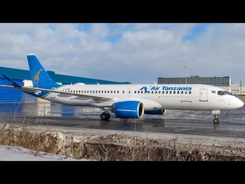 Air Tanzania's FIRST Airbus A220-300 (BCS3) Departing, Go Around & Landing in Montreal (YMX/CYMX)