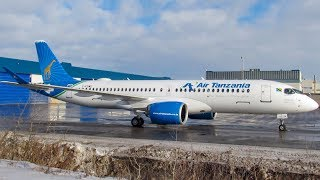 Air Tanzanias FIRST Airbus A220-300 BCS3 Departing Go Around  Landing in Montreal YMXCYMX