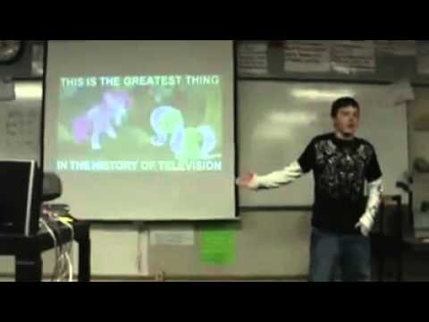archive brony gives school presentation on manliness youtube