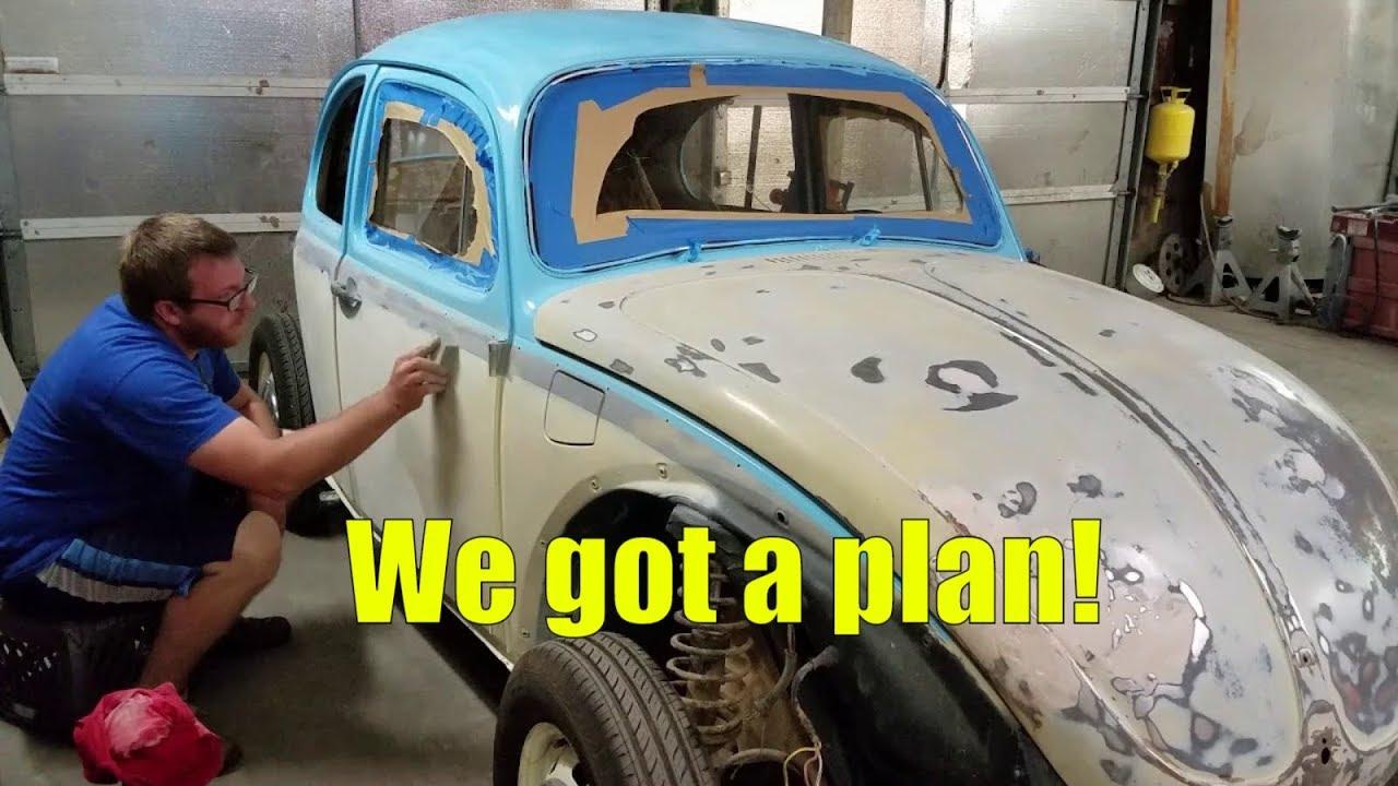 71 volkswagen beetle diy 50 paint job progress plan classic restoration giveaway [ 1280 x 720 Pixel ]