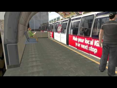 [Trainz] Sydney Monorail Unit 5 departs Paddy's Market