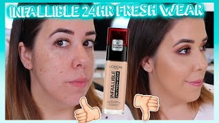 NUEVA BASE LOREAL INFALLIBLE 12HR FRESH WEAR | ¿MATE TODO EL DIA? ¿12HR?