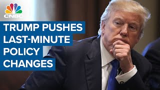 Cnbc's eamon javers reports on what president trump is doing before he prepares to leave office, and much of it designed hamper the next administration...