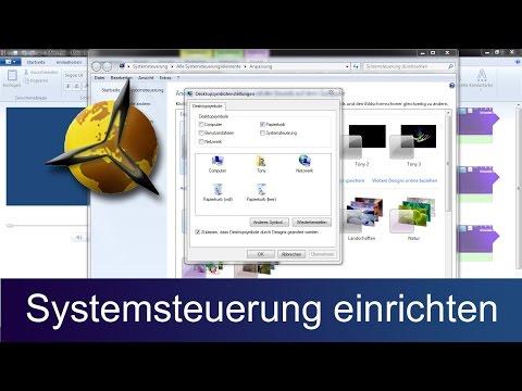 Windows 7: Systemsteuerung auf dem Desktop einrichten / aufrufen