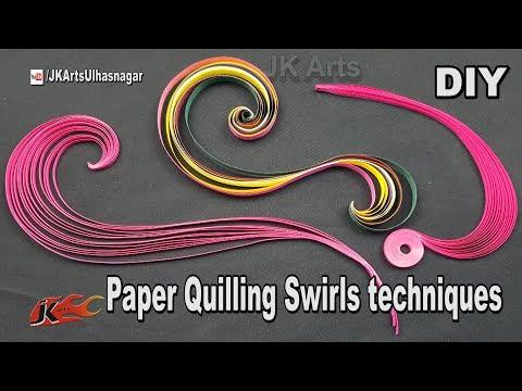 Paper Quilling Swirls Tutorial   JK Arts 1277