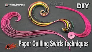 Paper Quilling Swirls Tutorial | JK Arts 1277