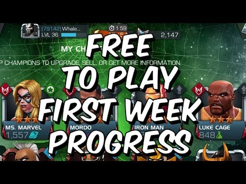 Free To Play First Week Progress - Act 4, We Made It! - Marvel Contest Of Champions