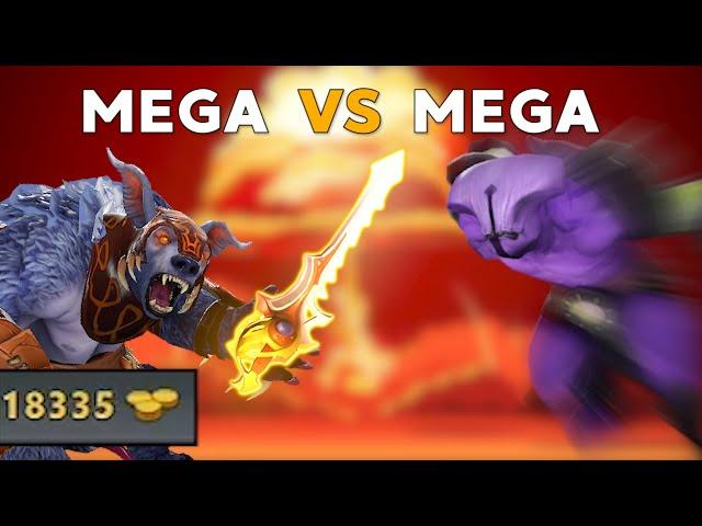 The Most RIDICULOUS Game Of Dota! (MEGA VS MEGA CREEPS 90+min)