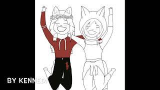 Ich und Jillians Roblox-Charaktere!