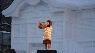2011年2月11日 札幌雪祭りにて Fallin' Snow α55 唯月ふうか.