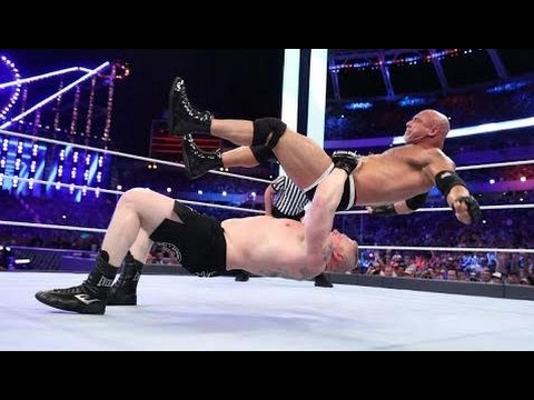 Goldberg vs Brock Lesnar Full Match HD - WWE Universal Championship Match - WWE WrestleMania 33  HD thumbnail