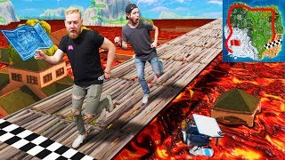 Floor Is Lava Race Across The Map Challenge! | Fortnite