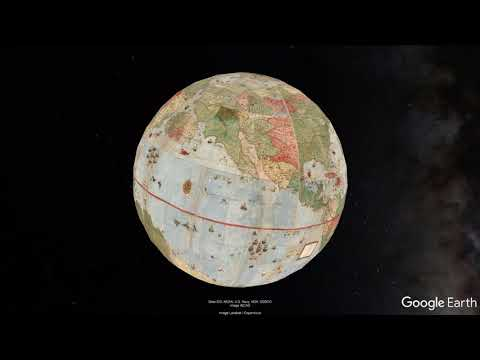 Largest Early World Map - Monte's 10 ft. Planisphere of 1587 in Google Earth