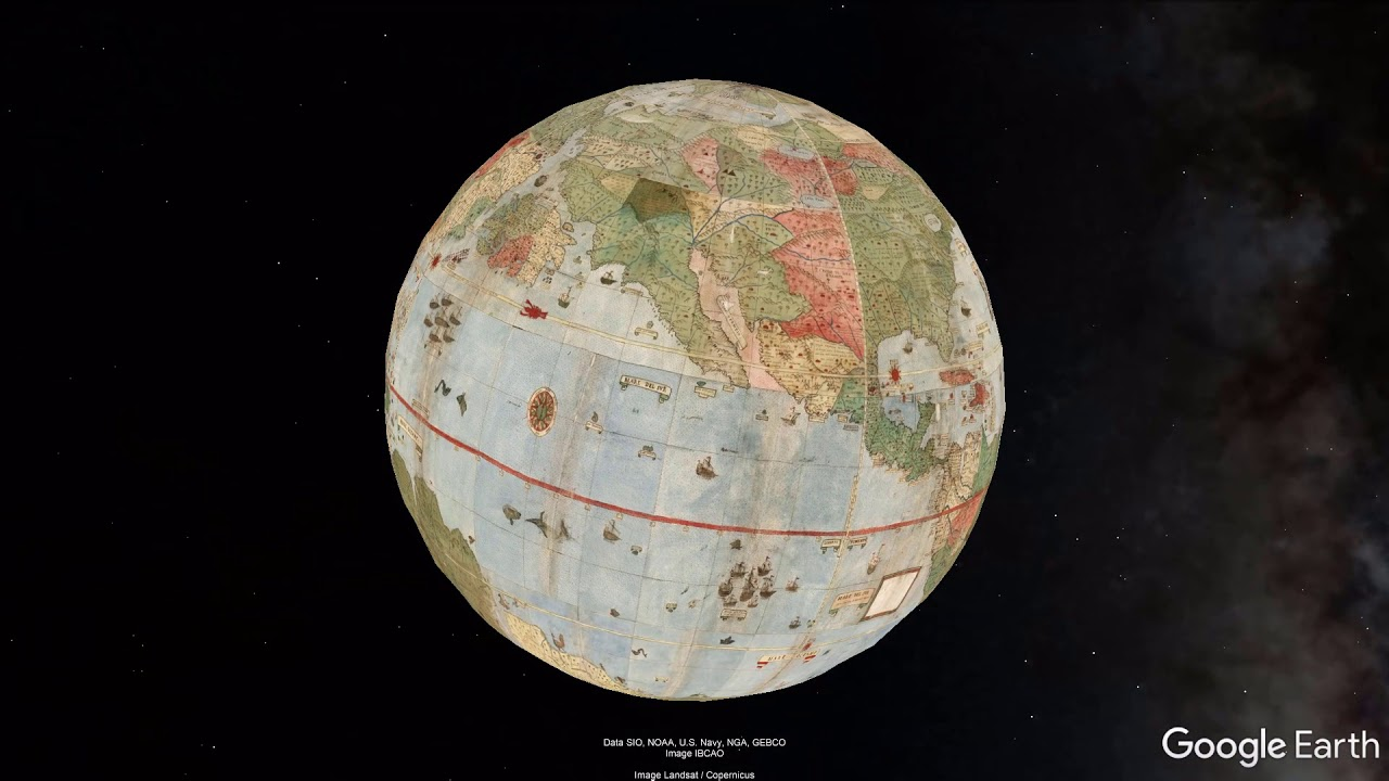 Largest early world map montes 10 ft planisphere of 1587 in largest early world map montes 10 ft planisphere of 1587 in google earth gumiabroncs Choice Image