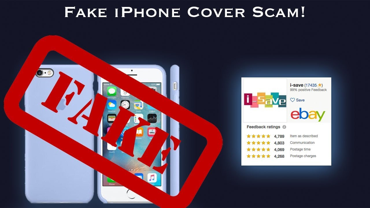Fake iPhone Case, How To Spot A Fake (eBay Scam) – Short Version