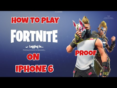 How To Play Fortnite On IPhone 6/5s,IPad And Under *Video Proof*