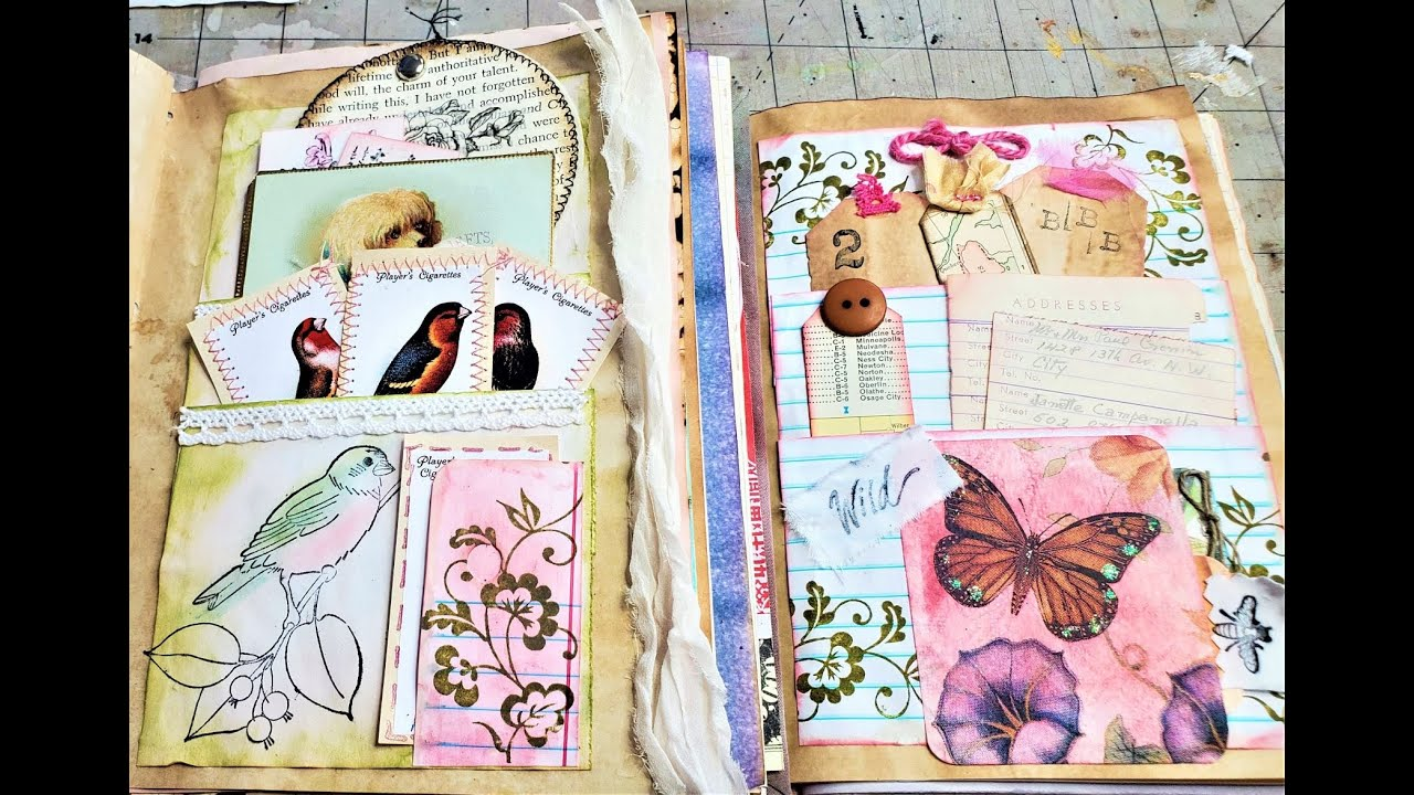 How to Make Pretty Pockets in a Junk Journal! Ep 10: Pretty Pages in Junk Journals!  Paper Outpost