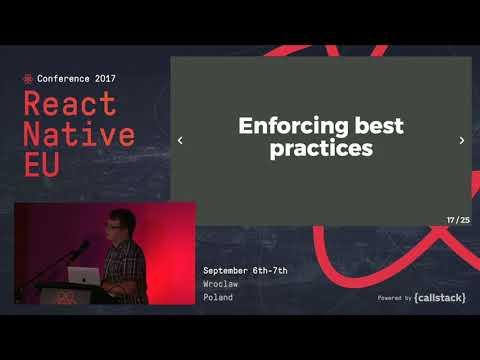 LIGHTNING TALK Johannes Stein  Scaffolding plugins for React Native