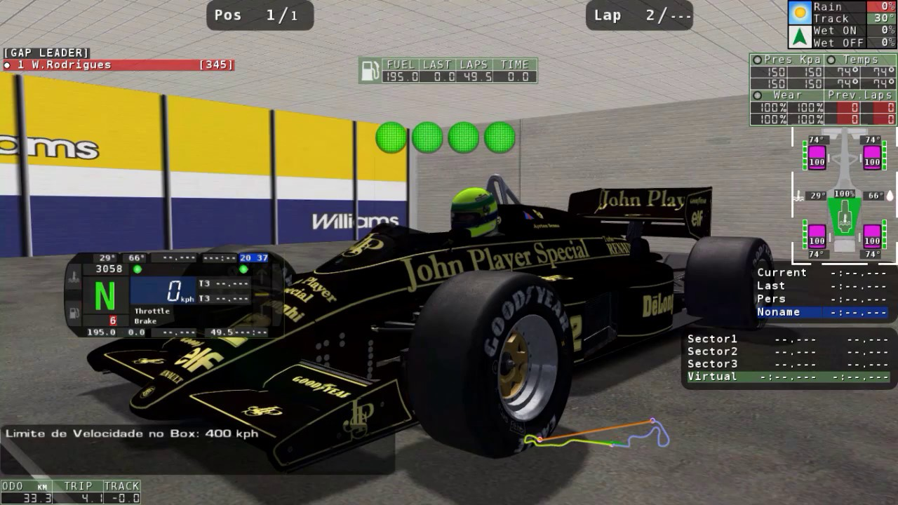 [rFactor] Mod F1 1986 Gameplay (1st Drive!) ►► Download Link on Pinned Post  ◄◄