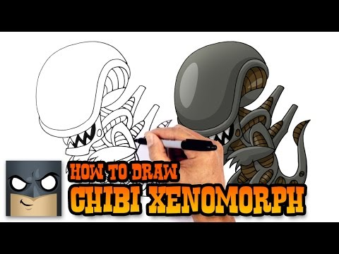 How to Draw Xenomorph Alien | Drawing Lesson