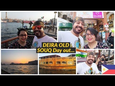 Dubai Gold Souq || Abra || 1 Dirham Boat Ride Fare || Filipino Indian Life in UAE