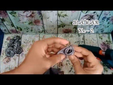4 Macam Bunga Mawar Dari Pita Satin - 4 Styles Of Satin Ribbon Roses (Fabric Flower Tutorial #3)