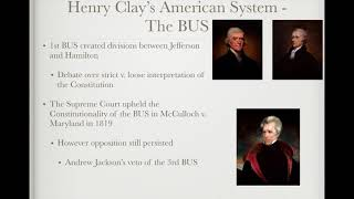 APUSH Review: Video #23: Sectionalism & The American System