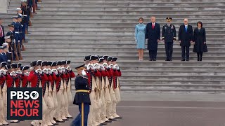 President Donald Trump conducts troop review at U.S. Capitol thumbnail