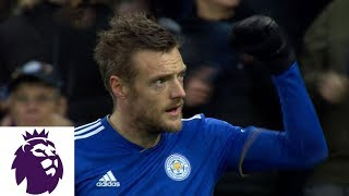 Jamie Vardy's penalty kick puts Leicester in front | Premier League | NBC Sports