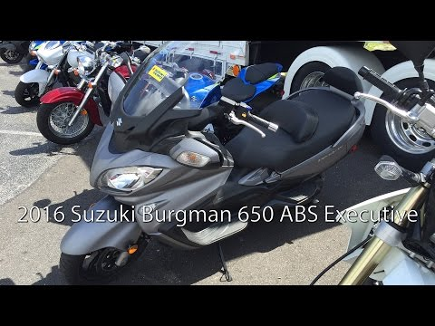 2016 Suzuki Burgman 650 ABS Executive Scooter Review