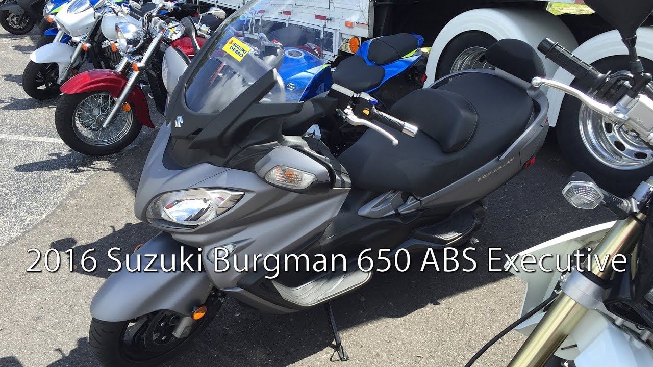 2016 suzuki burgman 650 abs executive scooter review youtube. Black Bedroom Furniture Sets. Home Design Ideas