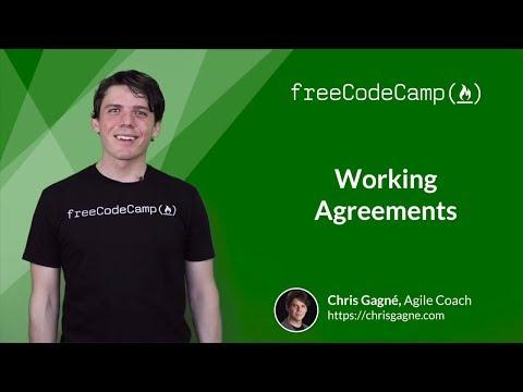 Working Agreement - Agile Software Development