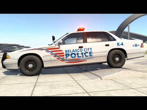 BeamNG Drive - Belasco PD Grand Marshal Suspension Test