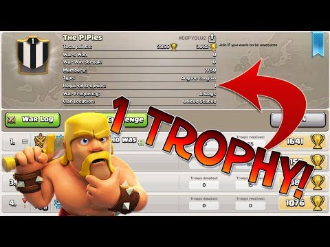 1 REQUIRED TROPHY TO JOIN?! - LITERALLY NOT POSSIBLE! - Clash Of Clans!