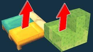 Где выше прыжок? Кровать против слайма! ИНТЕРЕСНЫЕ ФАКТЫ MINECRAFT - Эксперименты майнкрафт