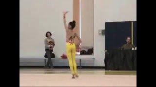 11-yr-old Elena Freehands at 2011 US Region 4 Rhythmic Gymnastics 新体操小学生