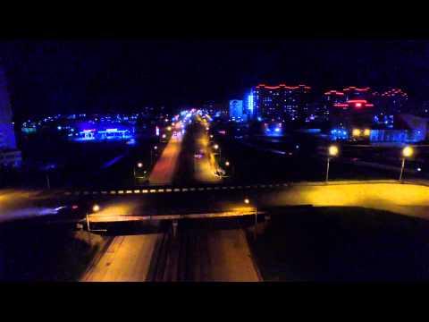 Ночной Барнаул с высоты