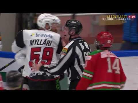 Malmöspelare attackerar ispojke | Mora - Malmö | 28/01-18