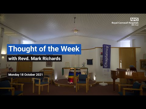 YouTube post - Thought for the Week - Monday 18 October 2021