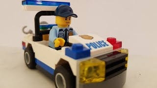 Learn to build lego city police car /LEGO 5-12/30352 unboxing for juniors/lego quick construct video